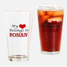 My heart belongs to Ronan Drinking Glass