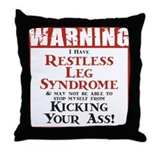 Restless Leg Syndrome Throw Pillow