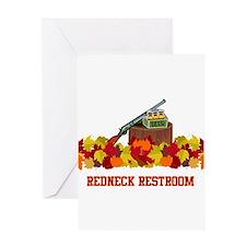 Redneck Restroom Greeting Card