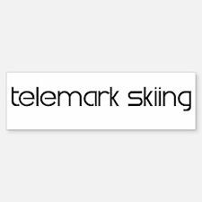 Telemark Skiing (modern) Bumper Bumper Bumper Sticker