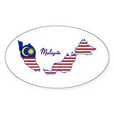 Cool Malaysia Oval Decal