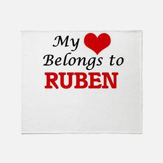 My heart belongs to Ruben Throw Blanket