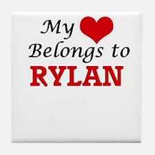 My heart belongs to Rylan Tile Coaster