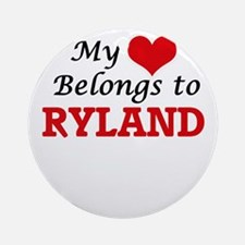 My heart belongs to Ryland Round Ornament