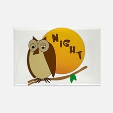 Night Owl Rectangle Magnet