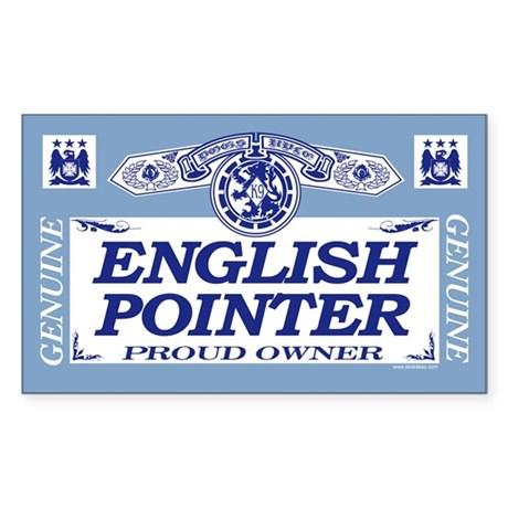 ENGLISH POINTER Rectangle Sticker