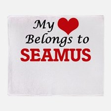 My heart belongs to Seamus Throw Blanket