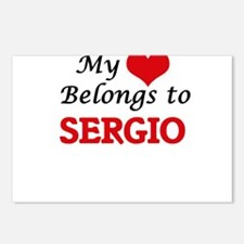 My heart belongs to Sergi Postcards (Package of 8)