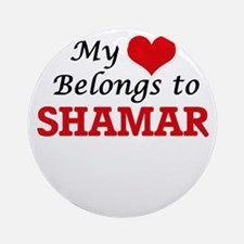 My heart belongs to Shamar Round Ornament
