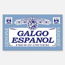 GALGO ESPANOL Rectangle Decal