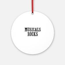 Musicals Rocks Ornament (Round)