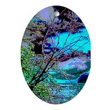 Lake Whatcom Fantasy Oval Ornament