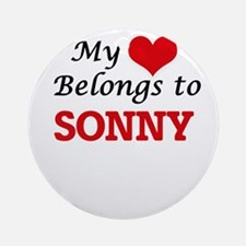 My heart belongs to Sonny Round Ornament