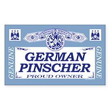 GERMAN PINSCHER Rectangle Decal