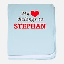 My heart belongs to Stephan baby blanket