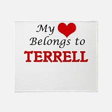 My heart belongs to Terrell Throw Blanket