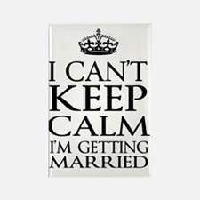 Cute Just got married Rectangle Magnet