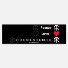 Peace Love Coexist Bumper Bumper Bumper Sticker