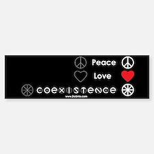 Peace Love Coexist Bumper Car Car Sticker