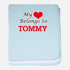 My heart belongs to Tommy baby blanket