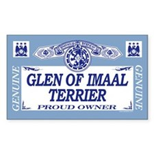 GLEN OF IMAAL TERRIER Rectangle Decal