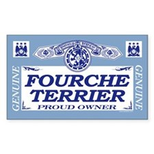 FOURCHE TERRIER Rectangle Decal
