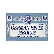 GERMAN SPITZ MEDIUM Rectangle Magnet