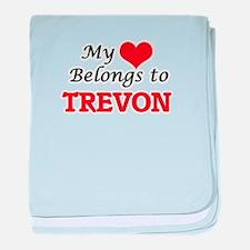 My heart belongs to Trevon baby blanket