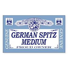GERMAN SPITZ MEDIUM Rectangle Decal