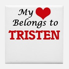 My heart belongs to Tristen Tile Coaster