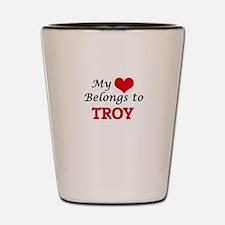 My heart belongs to Troy Shot Glass
