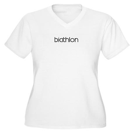 Biathlon (modern) Women's Plus Size V-Neck T-Shirt