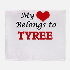 My heart belongs to Tyree Throw Blanket