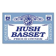 HUSH BASSET Rectangle Decal