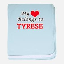 My heart belongs to Tyrese baby blanket