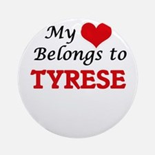 My heart belongs to Tyrese Round Ornament