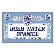 IRISH WATER SPANIEL Rectangle Decal