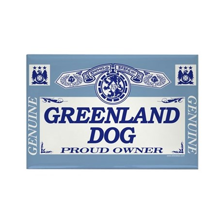 GREENLAND DOG Rectangle Magnet
