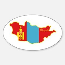 Cool Mongolia Oval Decal