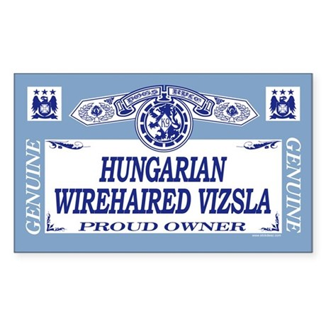 HUNGARIAN WIREHAIRED VIZSLA Rectangle Sticker