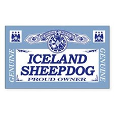 ICELAND SHEEPDOG Rectangle Decal