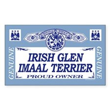 IRISH GLEN IMAAL TERRIER Rectangle Decal