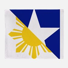 FilAm Flag Elements Throw Blanket