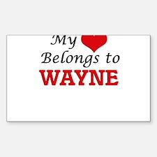 My heart belongs to Wayne Decal