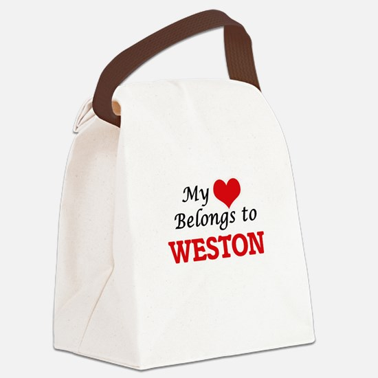 My heart belongs to Weston Canvas Lunch Bag