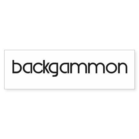 Backgammon (modern) Bumper Sticker