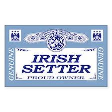 IRISH SETTER Rectangle Decal