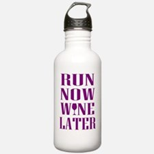 Unique Will run for wine Water Bottle