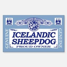 ICELANDIC SHEEPDOG Rectangle Decal