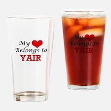 My heart belongs to Yair Drinking Glass